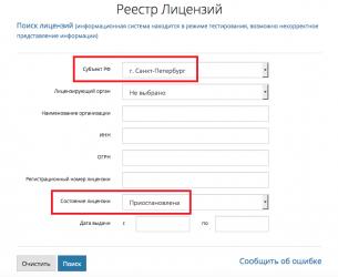 Реквизиты обязательные для отражения в лицензии